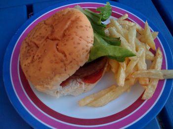 Homemade burger1